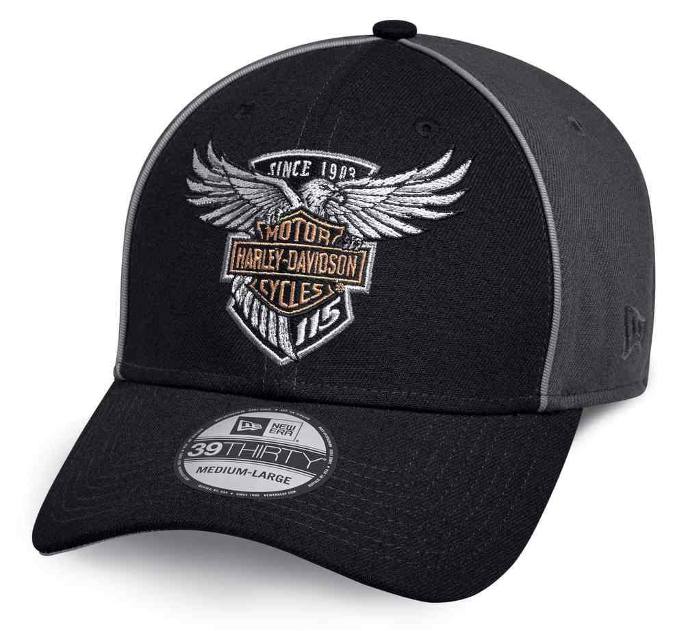 Harley Davidson Fitted Hats: Harley-Davidson Men's 115th Anniversary 39THIRTY Baseball