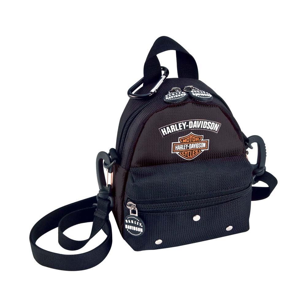 harley davidson mini me backpack black 99668 bb ebay. Black Bedroom Furniture Sets. Home Design Ideas