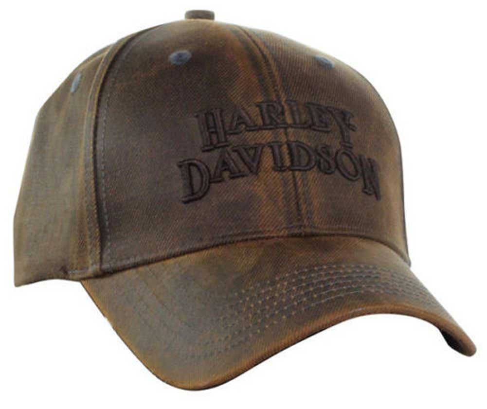 Harley-Davidson Regal Brown Stone Washed Baseball Cap Motorcycle Hat  BC111439 4c2ce18ec59