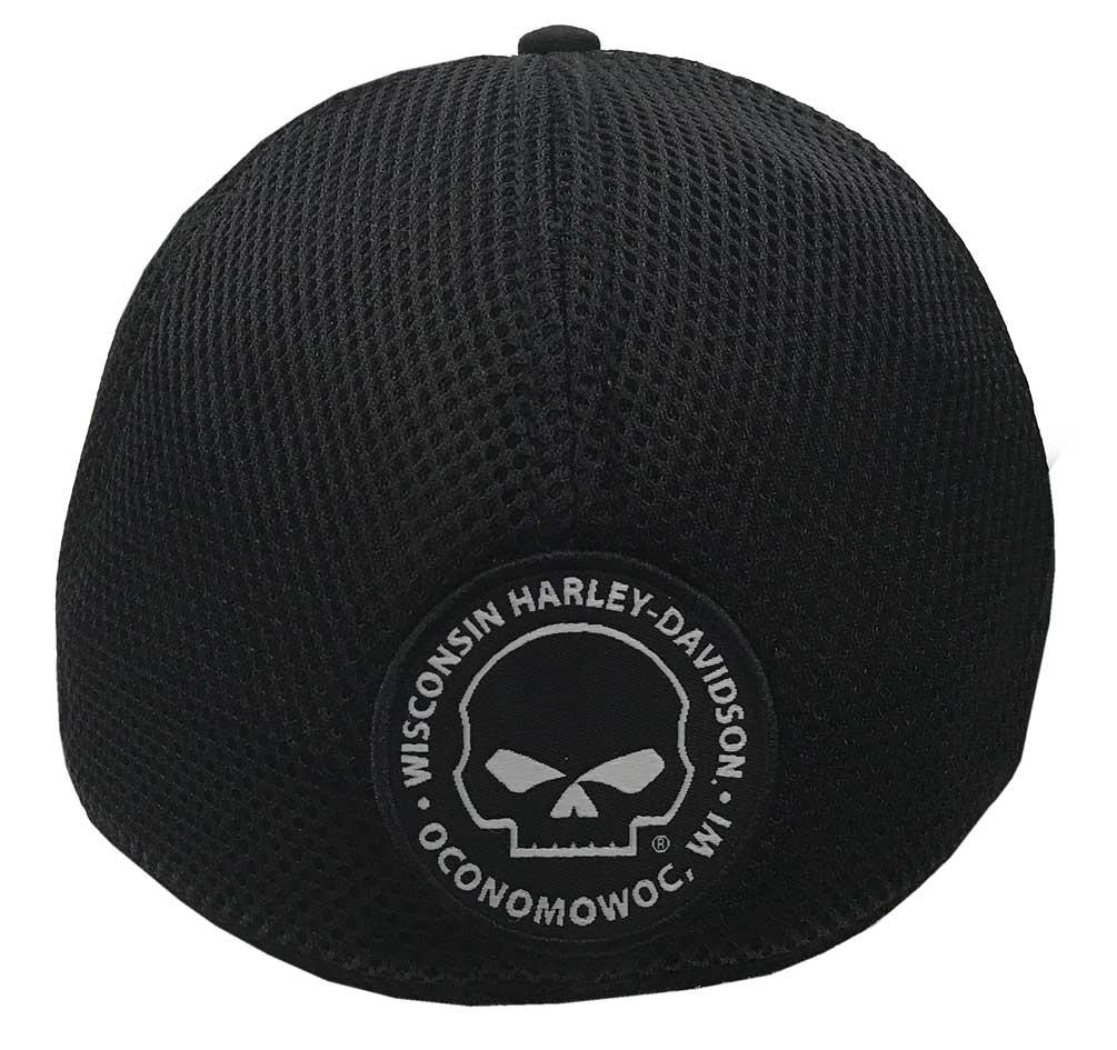 Harley-Davidson Willie G Skull Black Baseball Cap Stretch Fit BC119930 6b4f3c60536