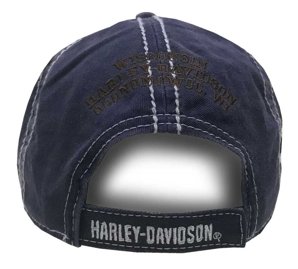 4987ec81 Harley-Davidson Men's Embroidered Retro Pre-Luxe Baseball Cap, Navy BCC27131