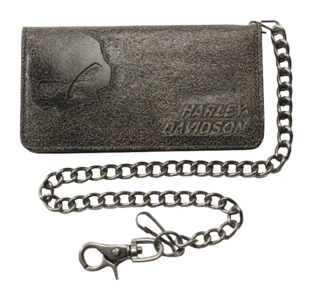 Mens Leather Biker Wallet With Chain