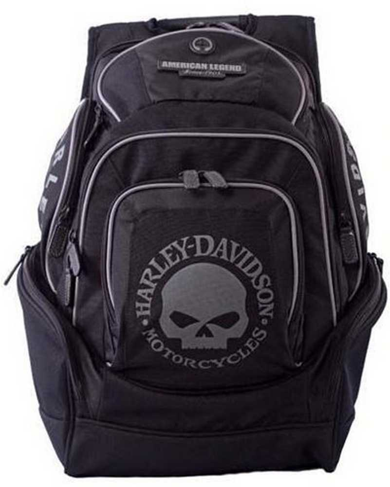 harley davidson mens skull backpack bp1924s black ebay. Black Bedroom Furniture Sets. Home Design Ideas