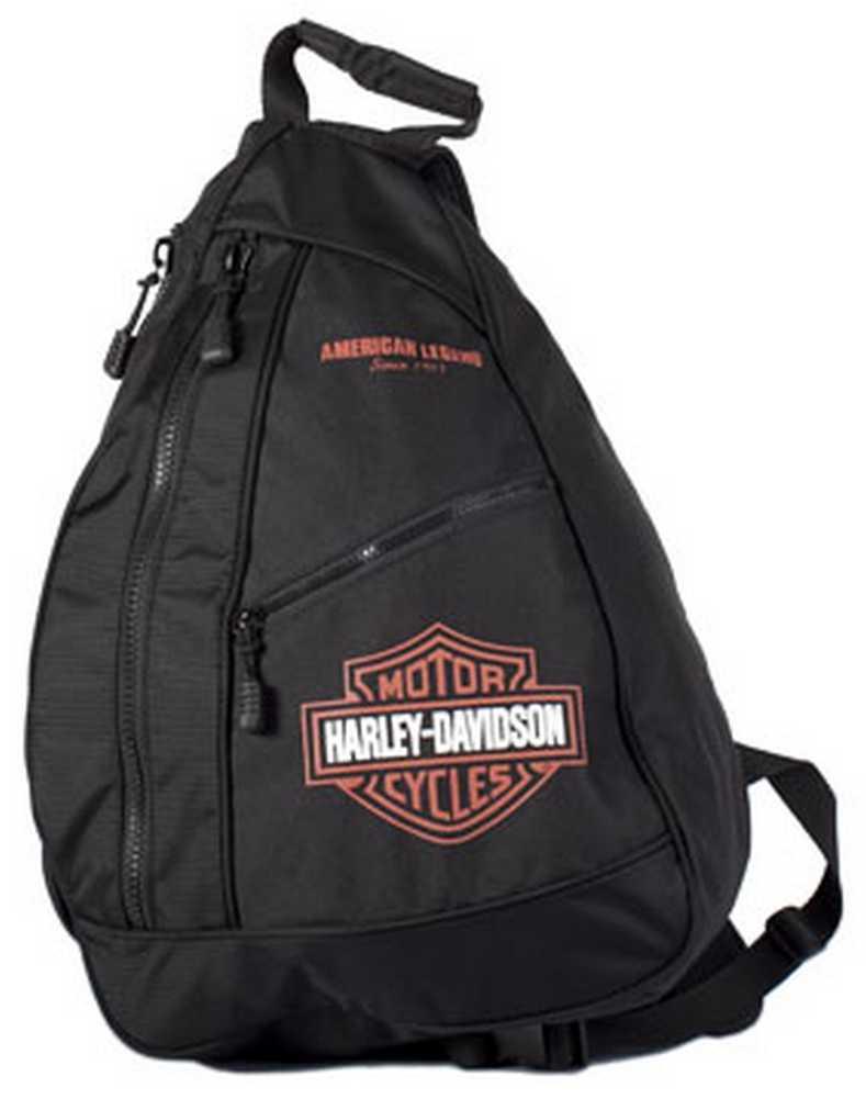 harley davidson bar shield sling backpack bp1957s orgblk. Black Bedroom Furniture Sets. Home Design Ideas