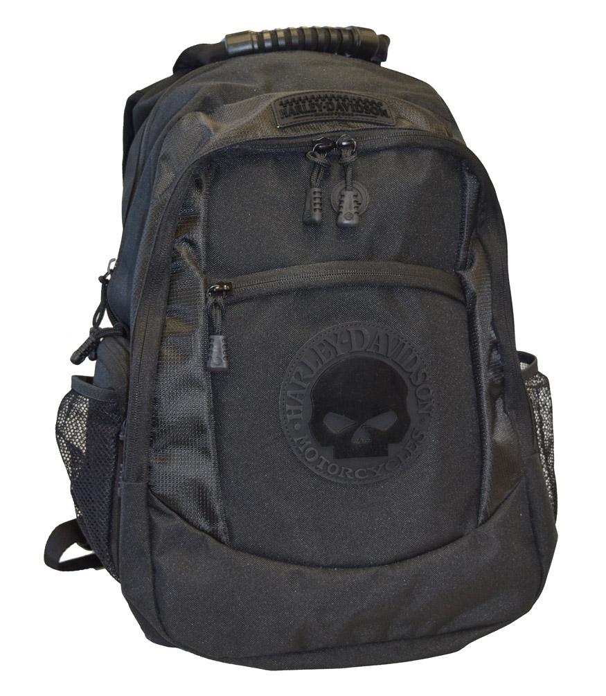harley davidson men 39 s willie g skull classic backpack. Black Bedroom Furniture Sets. Home Design Ideas