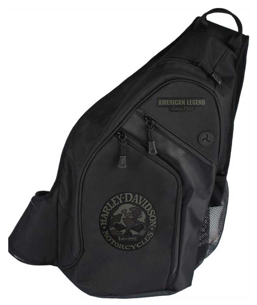 harley davidson 3d willie g skull camo sling backpack. Black Bedroom Furniture Sets. Home Design Ideas