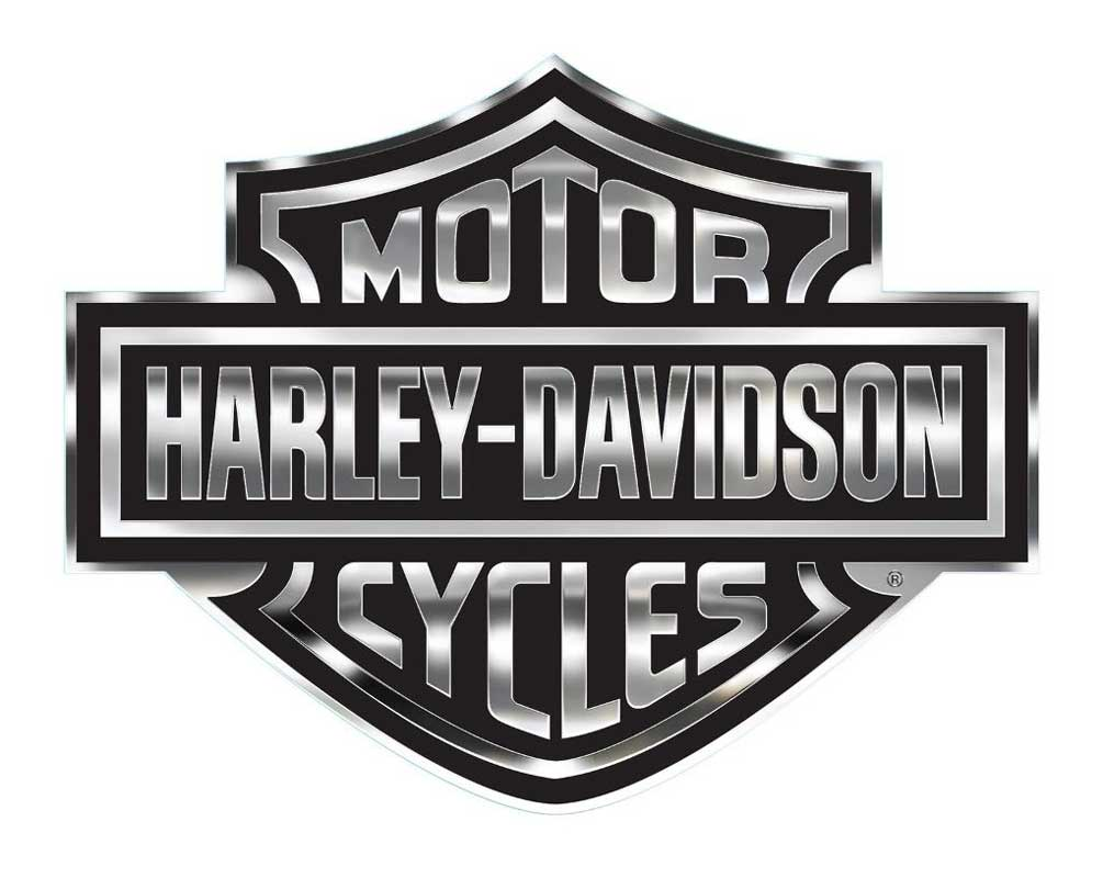 Harley Davidson Decal Chrome Bar Amp Shield Logo X Large