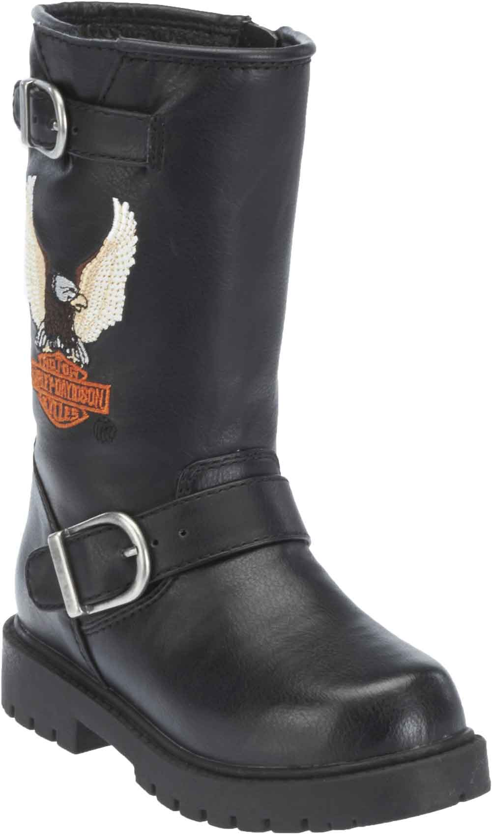 Harley-Davidson Little and Big Kid's Black Faux Leather ...
