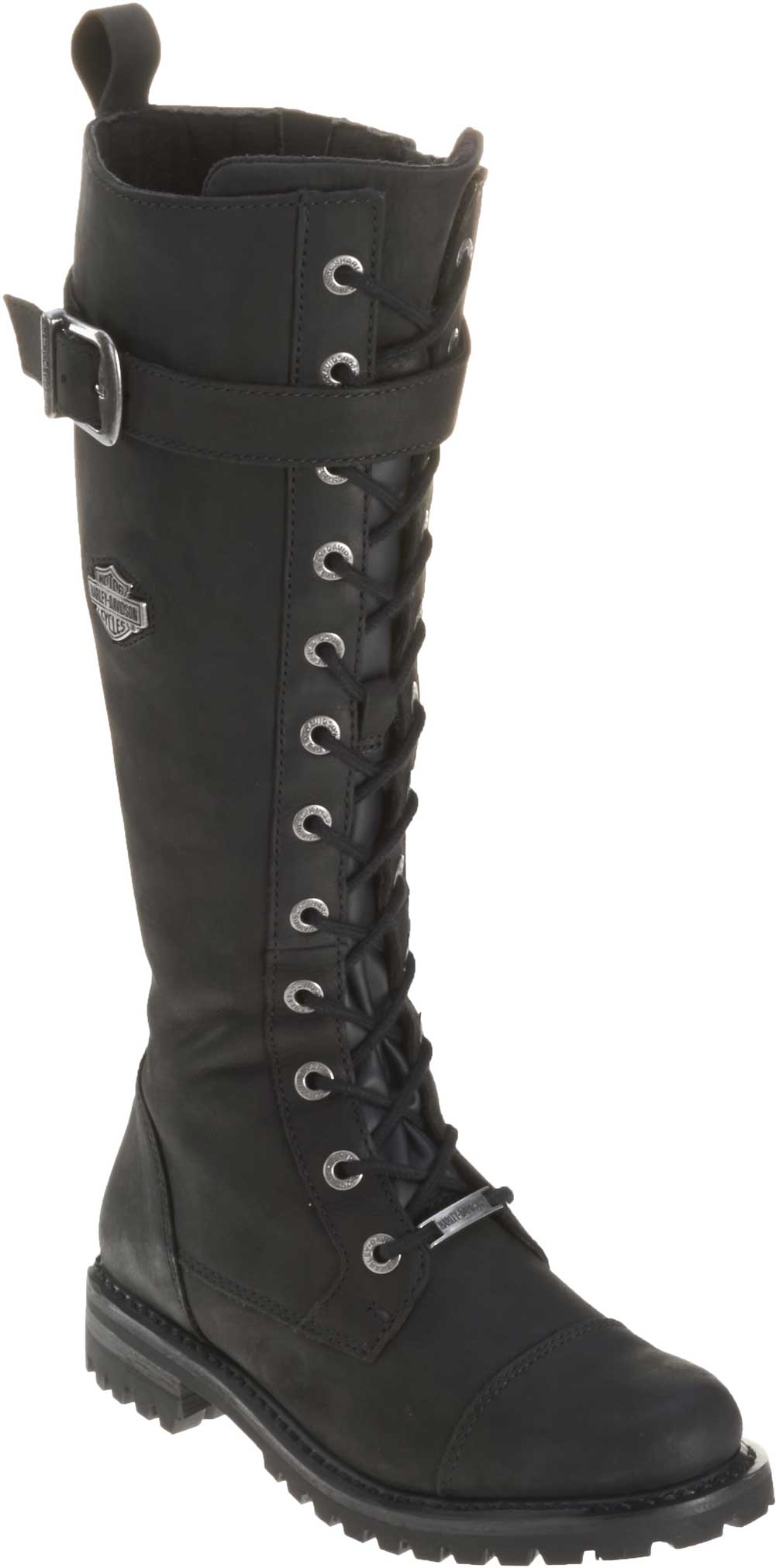 8fb3027180d Harley-Davidson Women s Savannah Black Leather 14-Inch Motorcycle Boots  D81489