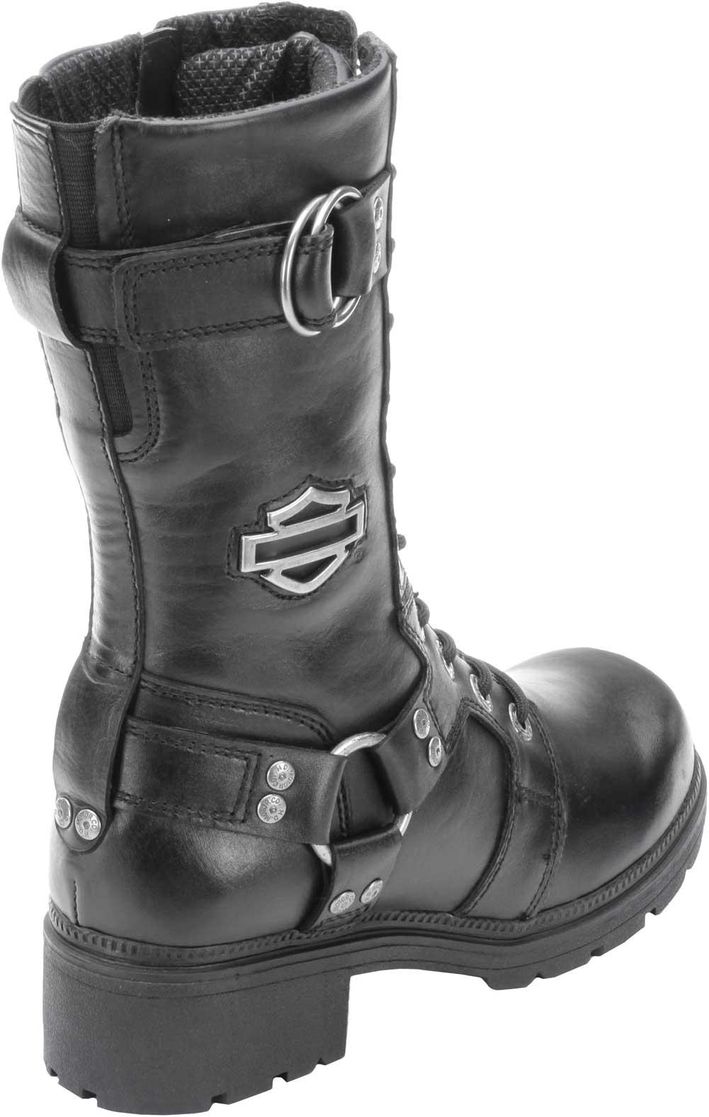 bf53960472d4 Harley-Davidson Women s Eda 9-Inch Boots. Inside Zipper. Lace Front. D83736