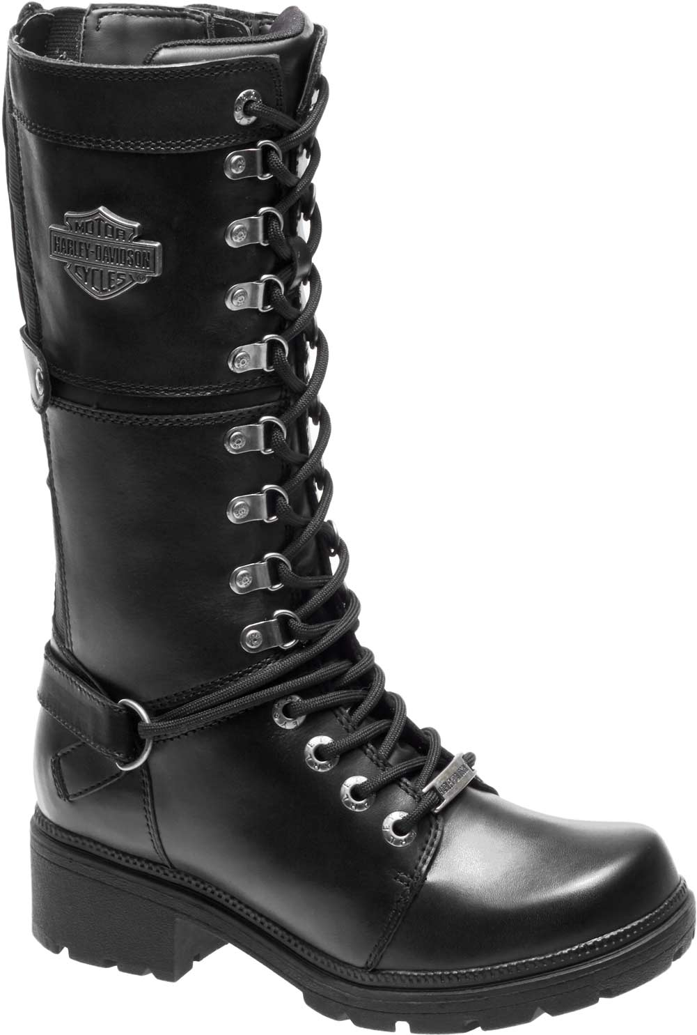 89853e8bfbe Details about Harley-Davidson Women's Harland 11-Inch Black Mid-Calf  Motorcycle Boots D83987