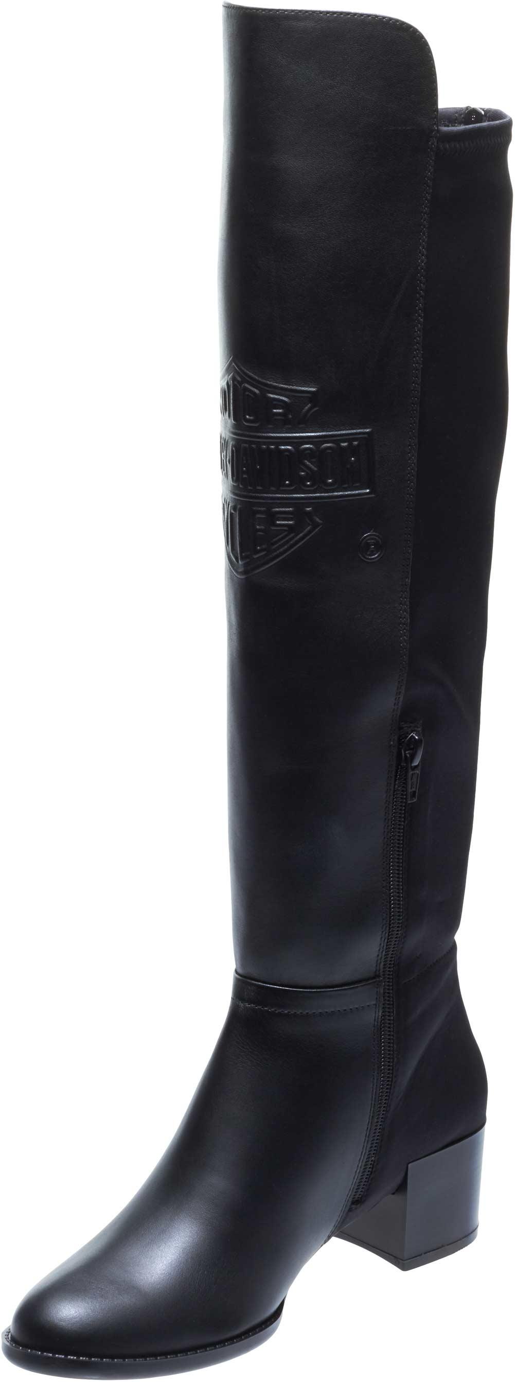 46070771965 Harley-Davidson Women s Delwood 18-Inch Knee-Hi Black Motorcycle Boots  D84111