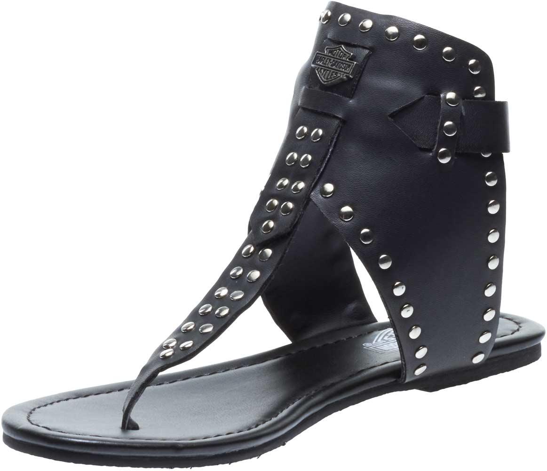 ab99847d5c8cc6 Harley-Davidson Women s Ames Gladiator Black Sandals D84128 (Black ...