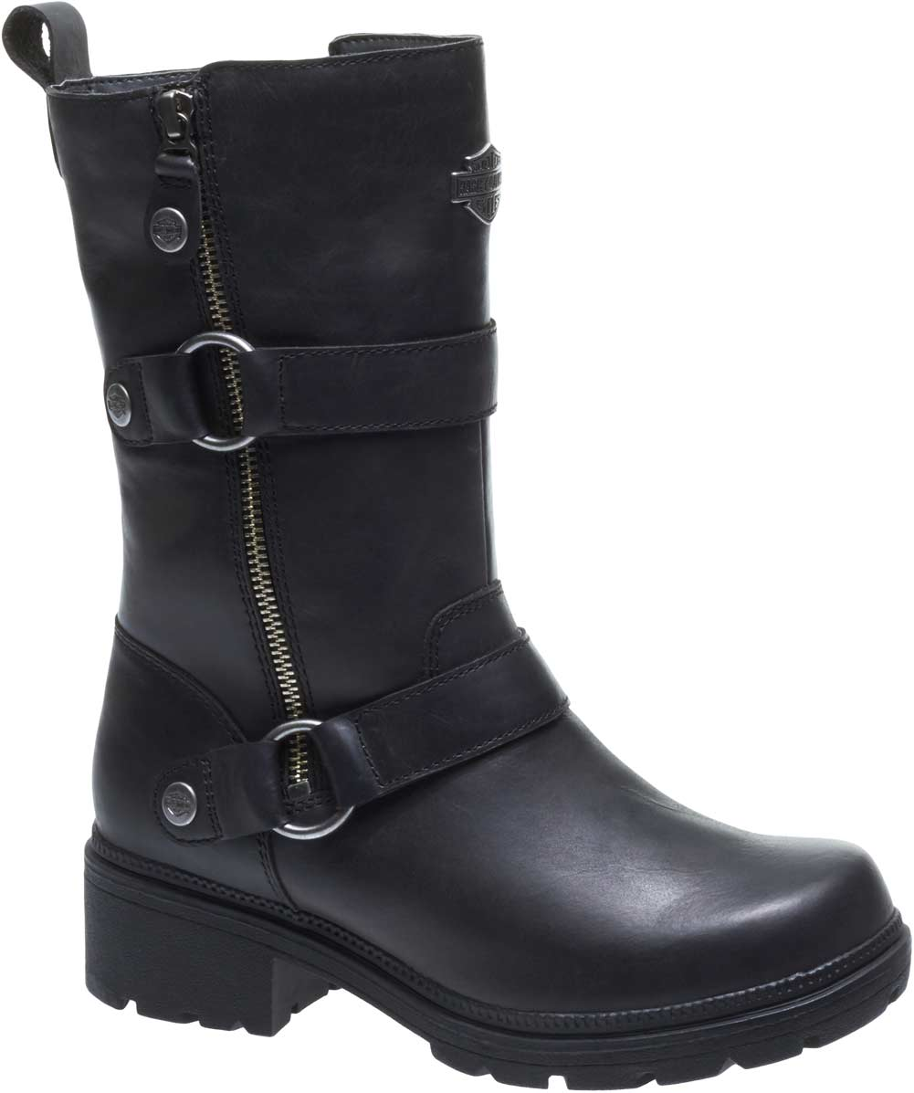 Harley-Davidso<wbr/>n Women&#039;s Ardsley Motorcycle Riding Brown Leather Boots D84259
