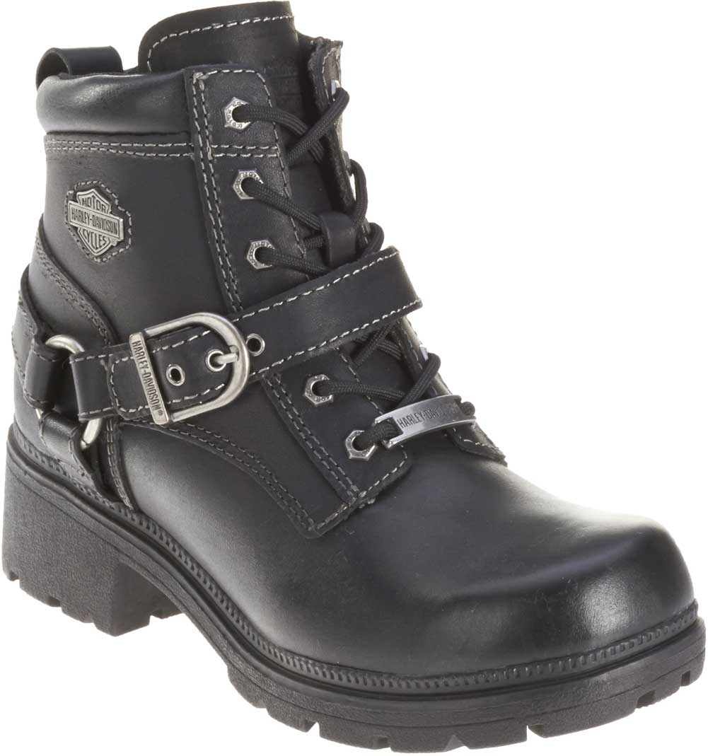 Harley-Davidson Women's Tegan 4-Inch Black Lace-Up Boots ...