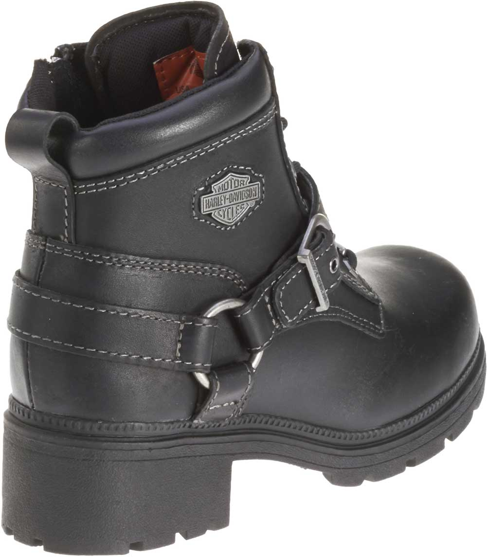 Harley-Davidson Womens Tegan 4-Inch Black Lace-Up Boots -8955