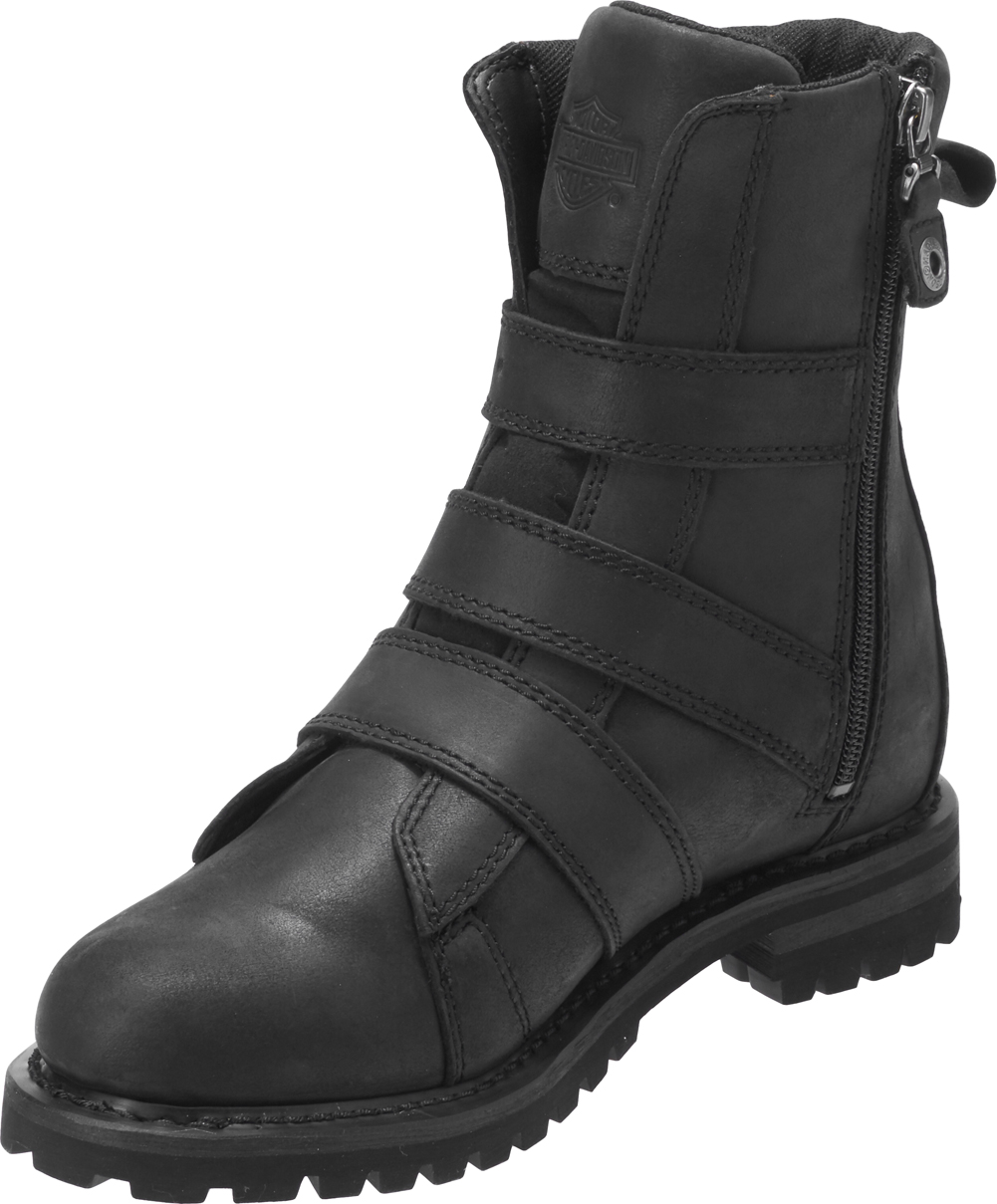 Harley-Davidson-Women-039-s-Hemford-6-75-Inch-Black-or-Brown-Motorcycle-Boots-D84470 thumbnail 6
