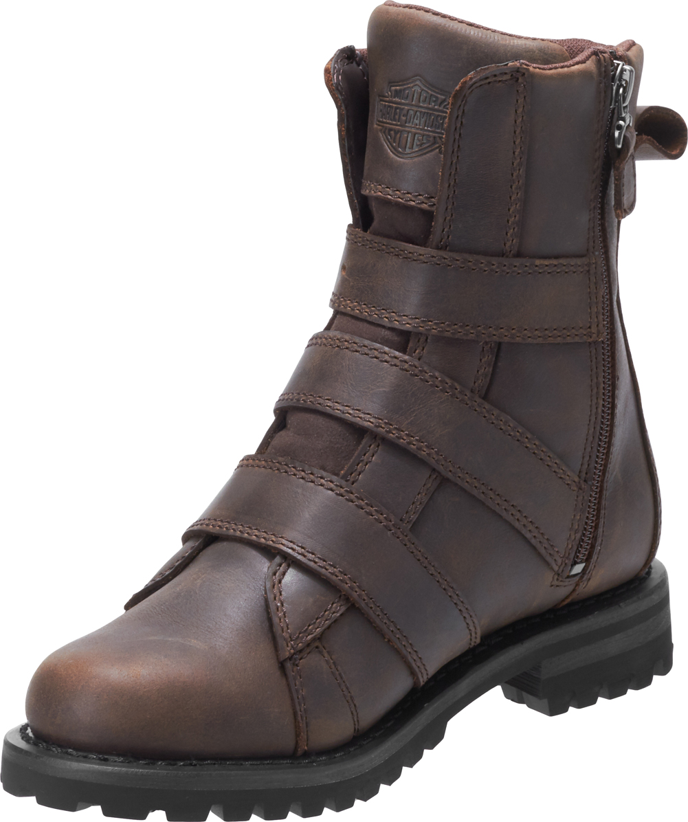 Harley-Davidson-Women-039-s-Hemford-6-75-Inch-Black-or-Brown-Motorcycle-Boots-D84470 thumbnail 10