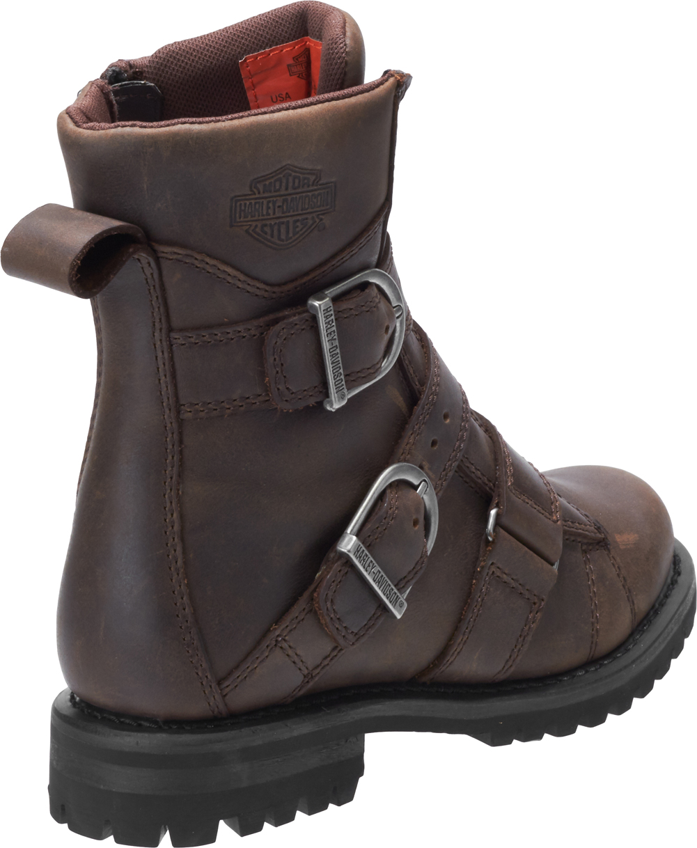 Harley-Davidson-Women-039-s-Hemford-6-75-Inch-Black-or-Brown-Motorcycle-Boots-D84470 thumbnail 11