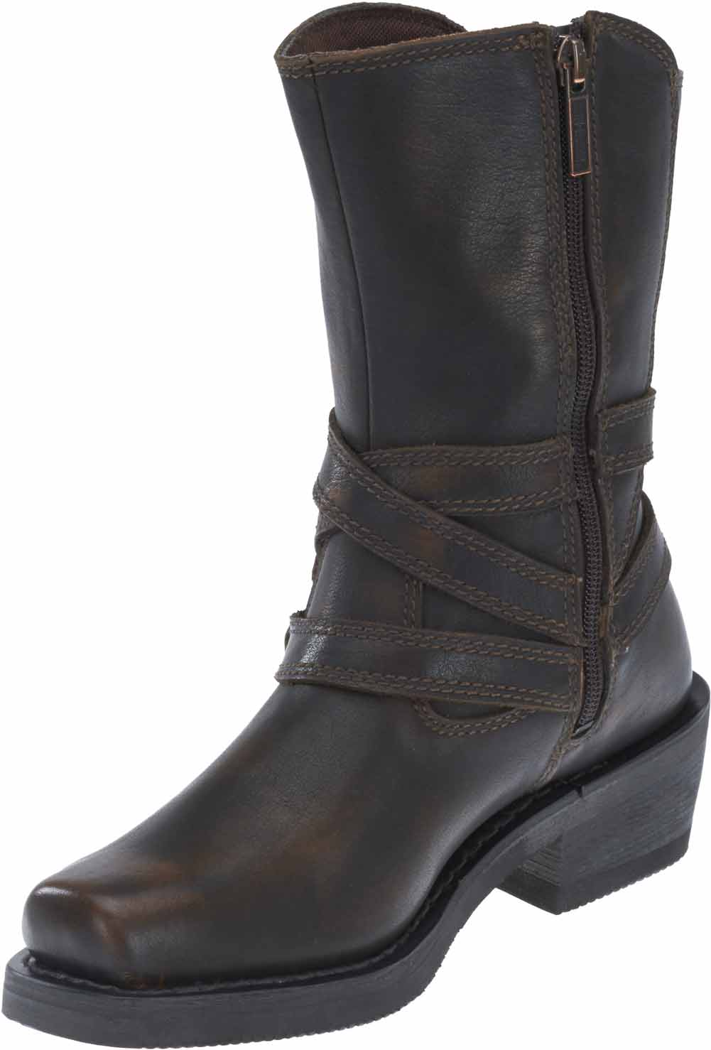 Black or Brown D87091 Harley-Davidson Womens Ingleside 8.5 Motorcycle Boots