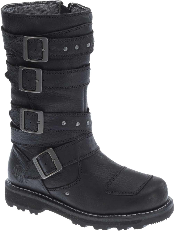 Perfect Harley-Davidson Womenu0026#39;s Beechwood 15u0026quot; Motorcycle Boots Black/Brn Or Stone D83856   EBay