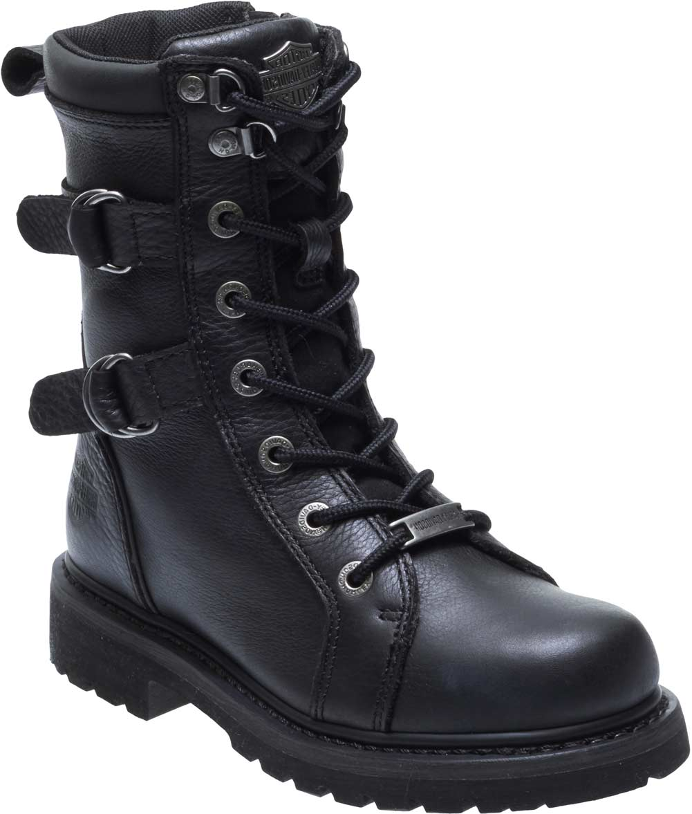 Harley-Davidson Womens Maridell 7-Inch Black Leather Motorcycle Boots -9940