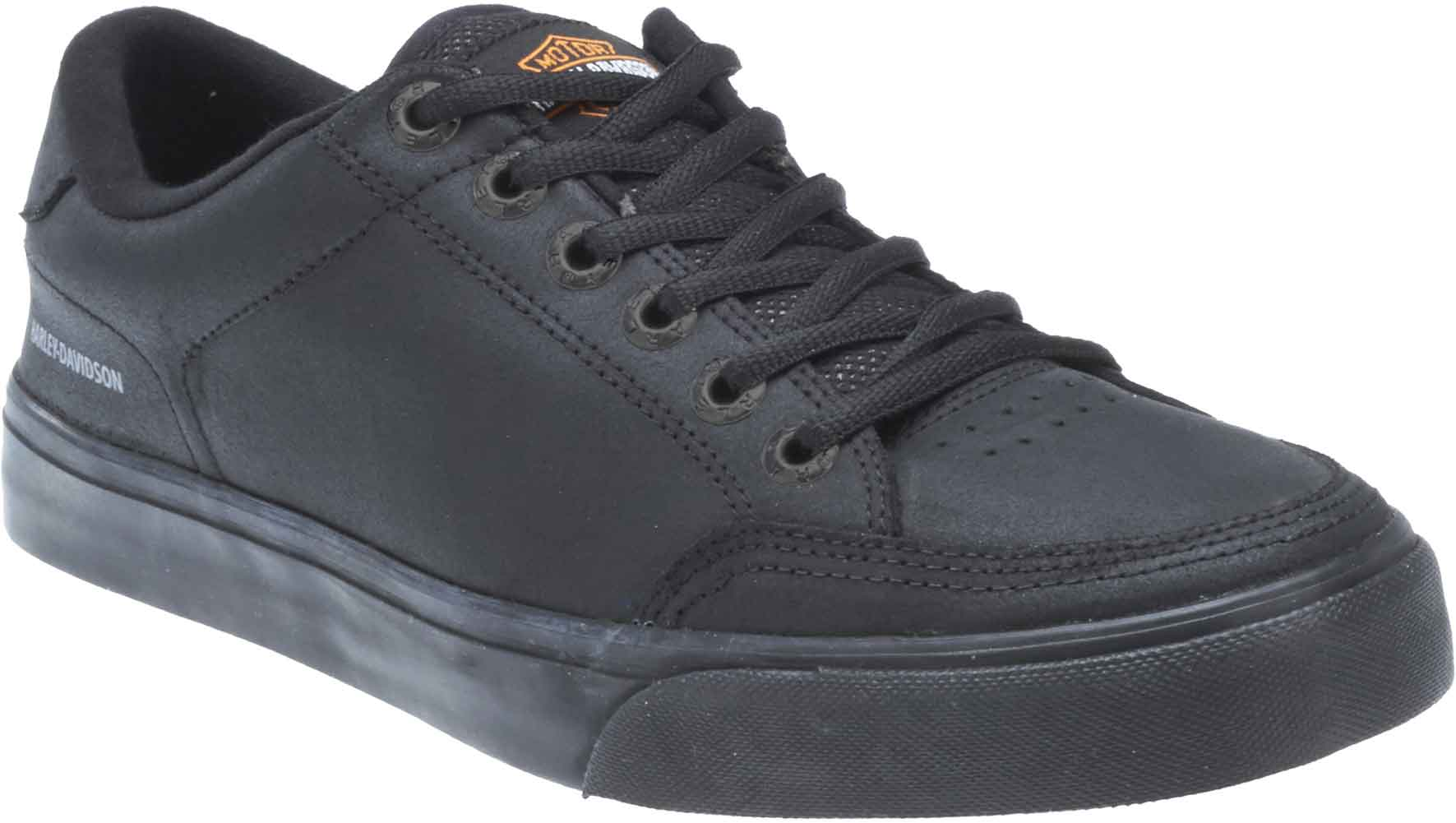 3dc59b901c18 Details about Harley-Davidson Men s Bando Black Leather Shoes   Sneakers.  D93330