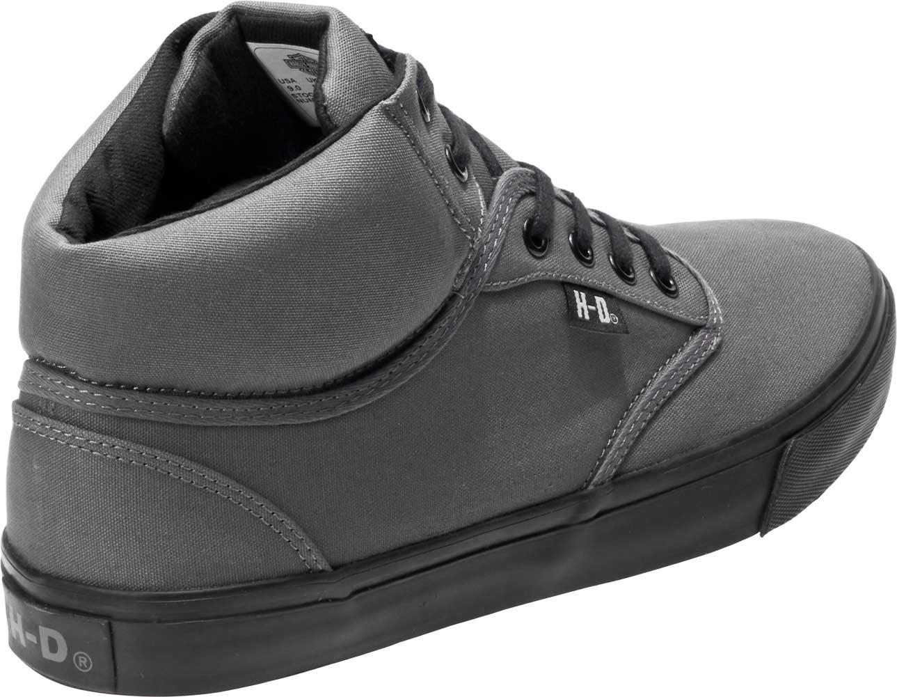 Hommes Harley-Davidson wrenford Chaussures De Loisirs D93544 noir toile 100/% Authentique Neuf