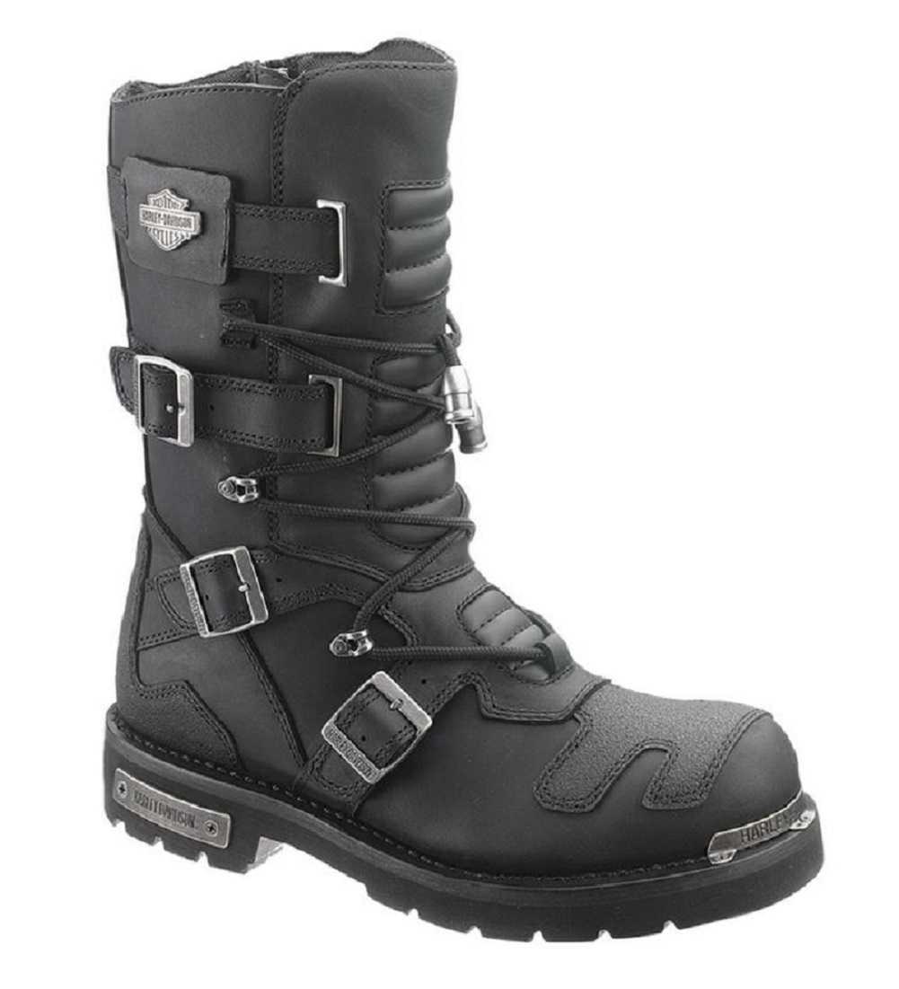 Harley Davidson Men S Axel 10 Inch Black Motorcycle Boots D96035 Ebay