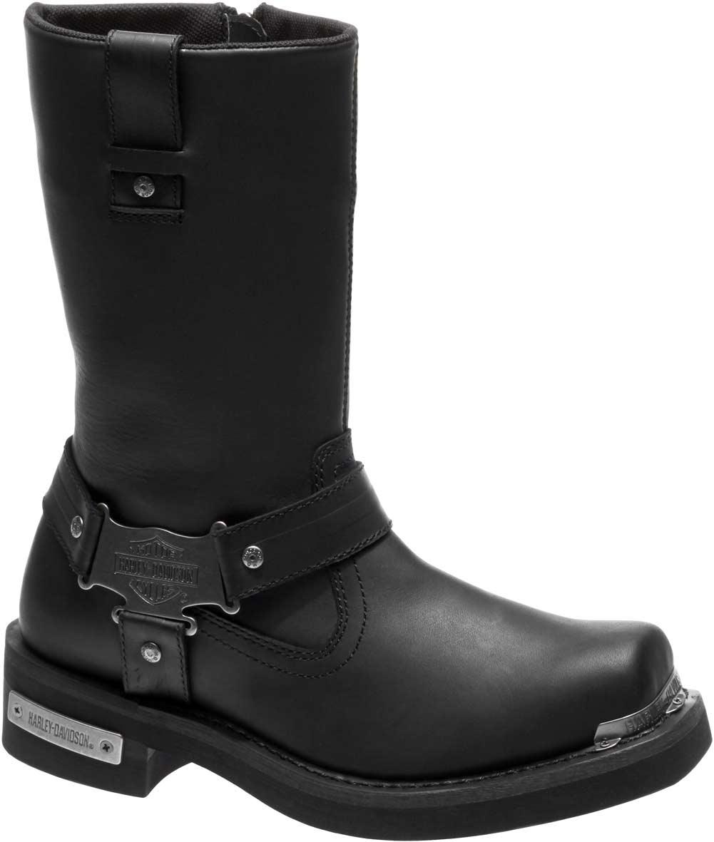 Dettagli su HARLEY DAVIDSON FOOTWEAR Men's Charlesfort Brown Leather Motorcycle Boots D96150