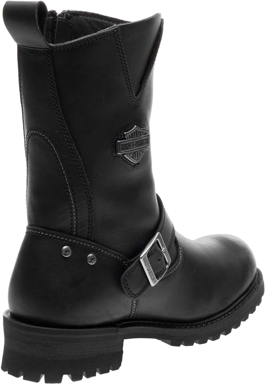 67af78219b1ee4 Harley-Davidson Men s Bladen 9-Inch Black Leather Motorcycle Boots D96155
