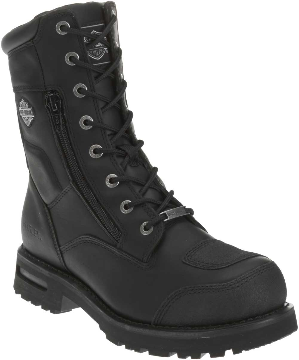 HARLEY-DAVIDSON Mens Richton 8-Inch Black Leather Motorcycle Boots D93511