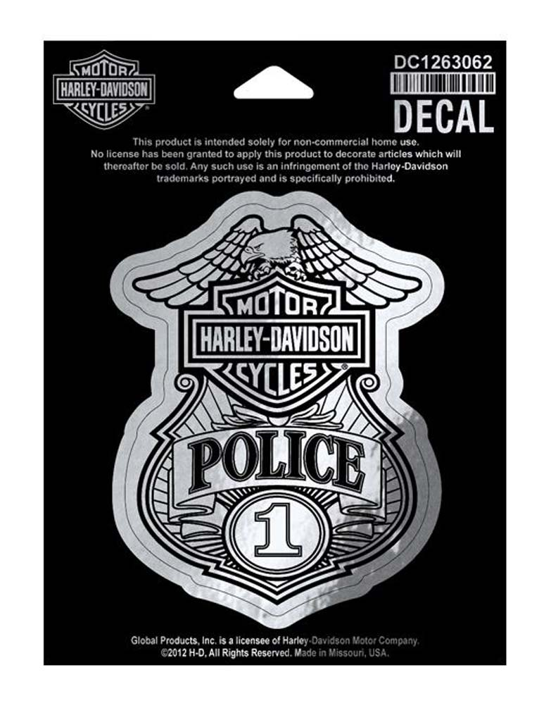 Harley Davidson Police Original Decal Small Size Sticker