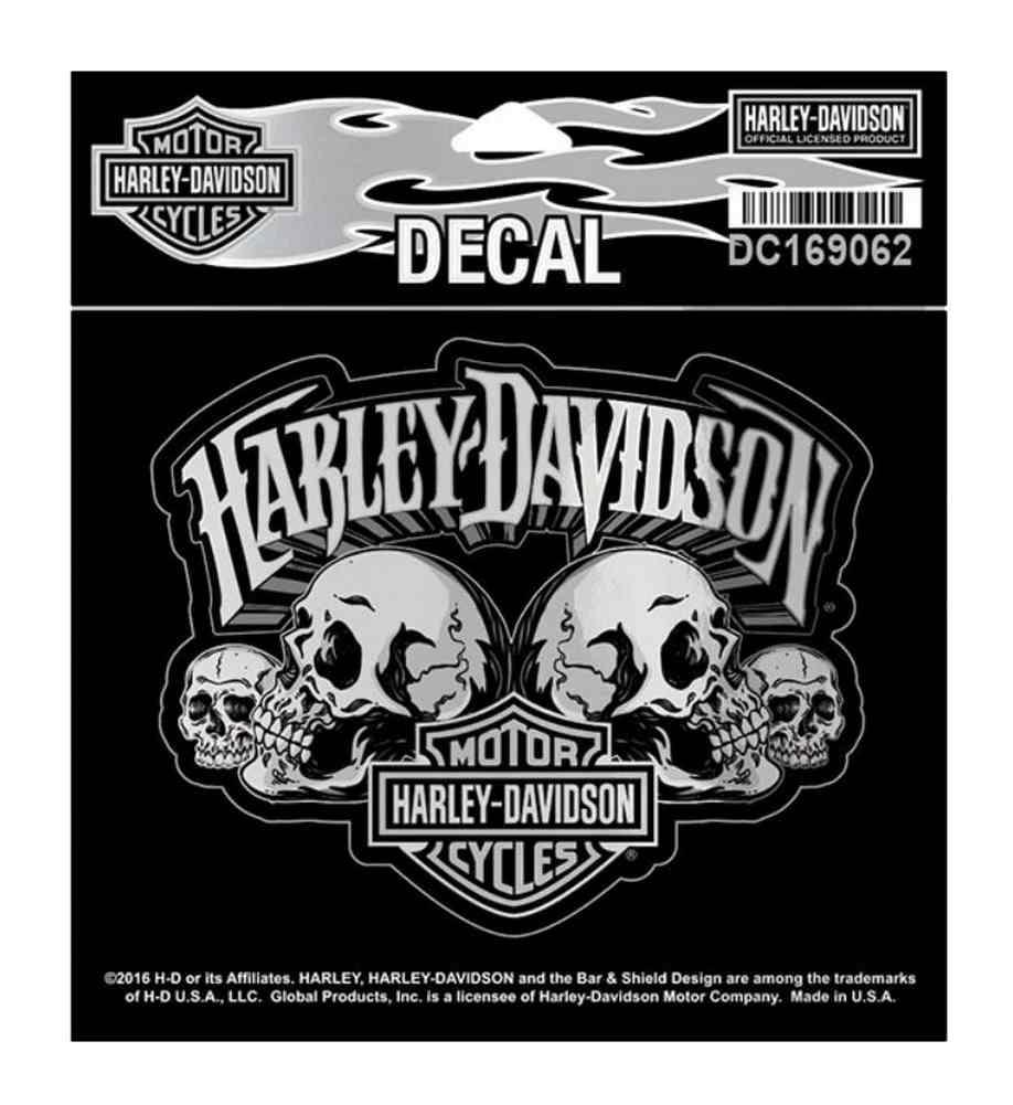 harley davidson skull text bar shield decal sm x. Black Bedroom Furniture Sets. Home Design Ideas