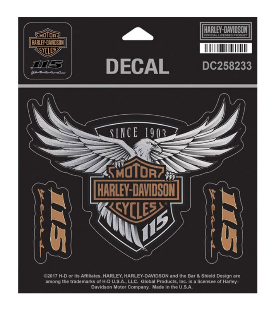 Harley Davidson 115th Anniversary Eagle Decal Medium 5 25