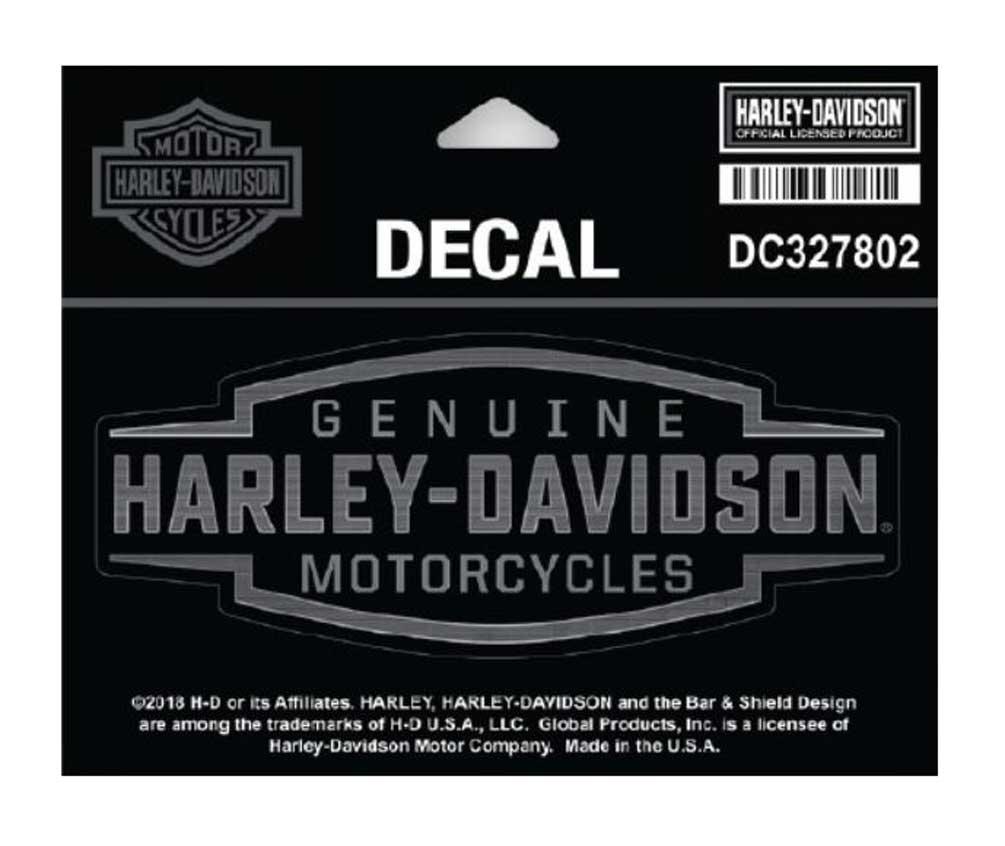 Transportation harley davidson live to ride rear window windshield decal sticker 59007 new