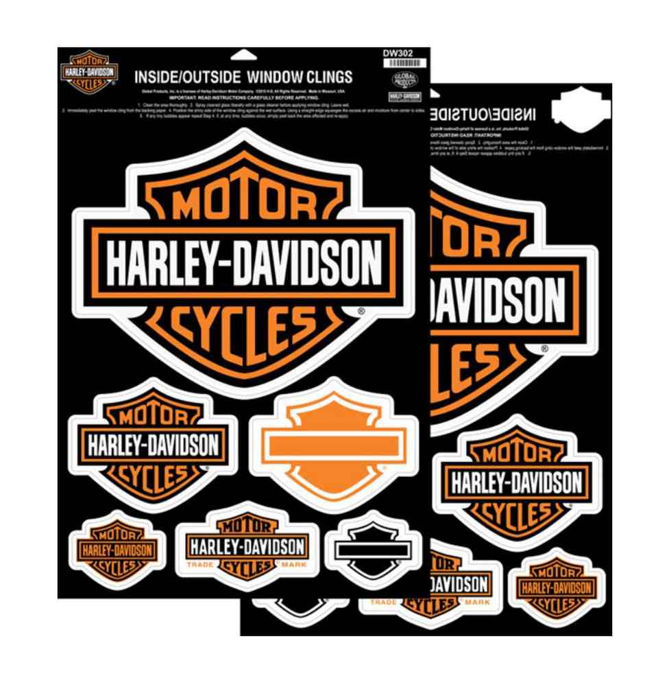 Inside//Outside SM Bar /& Shield Harley-Davidson Decal