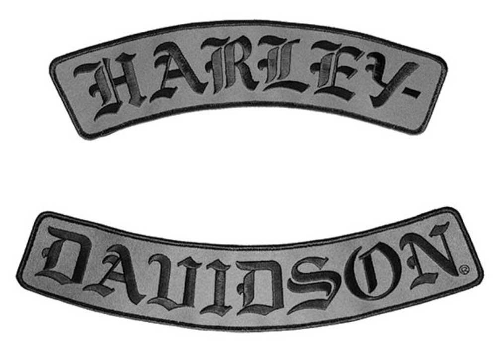 Harley Davidson Emblem: Harley-Davidson Embroidered H-D Script Emblem, 3X Size, 12