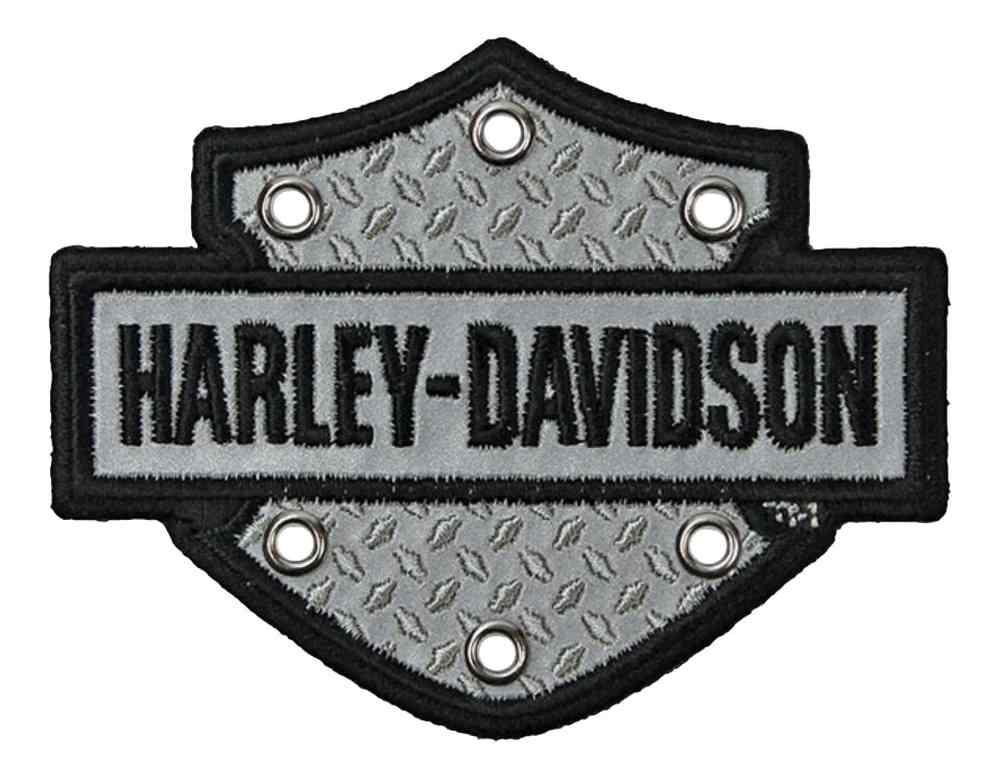 Harley Davidson Emblem: Harley-Davidson Embroidered Bar & Shield Reflective Emblem