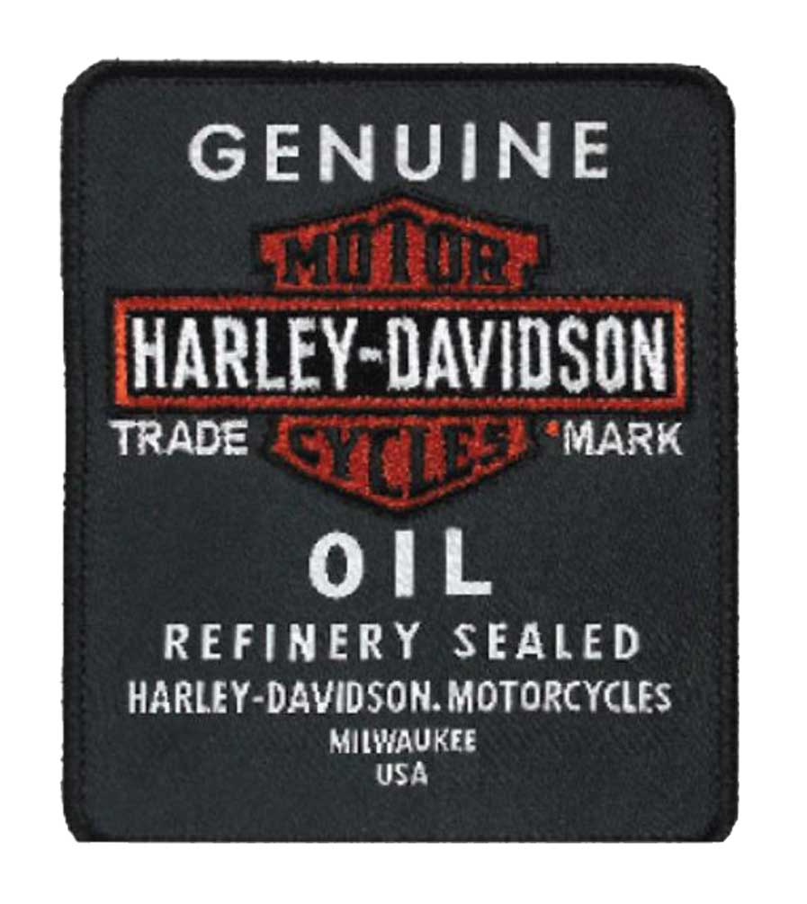 white banding TECHNICIAN Rocker Patch   Orange Harley colors black lettering