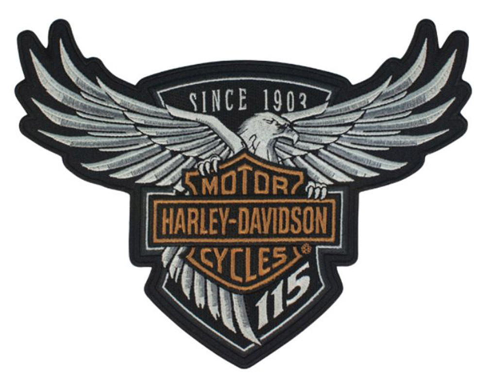 Harley Davidson 115th Anniversary Eagle Emblem Patch Large