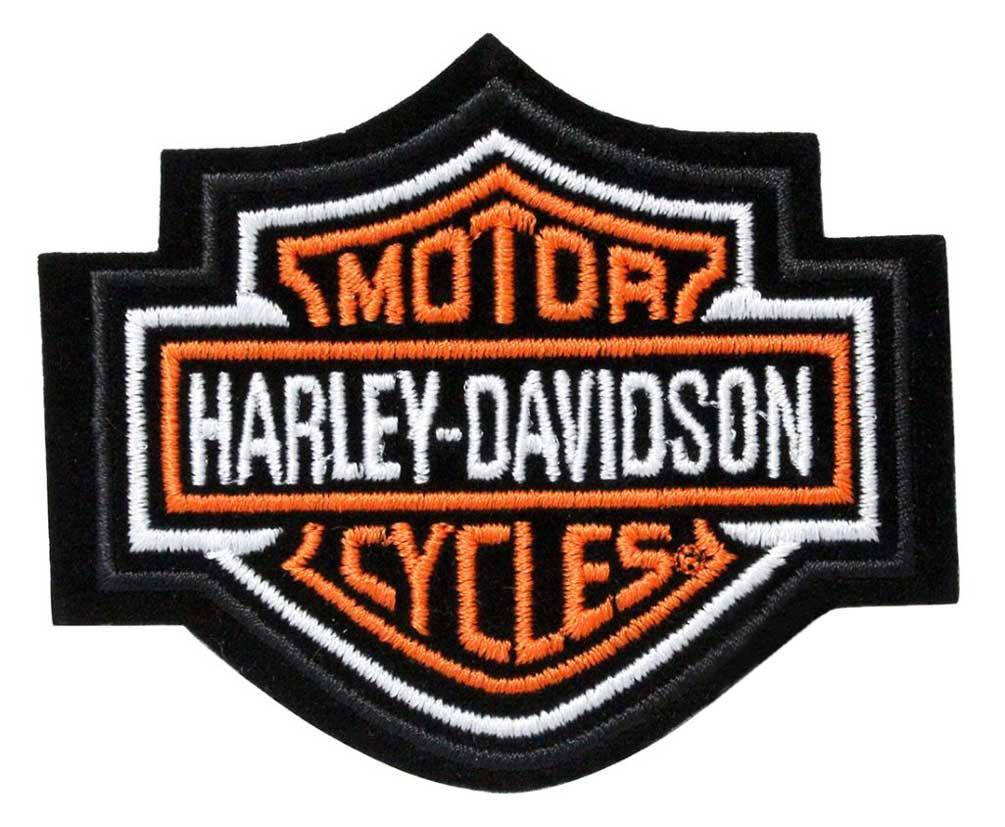 harley davidson orange bar shield patch xs 3 39 39 x 2 1 2. Black Bedroom Furniture Sets. Home Design Ideas