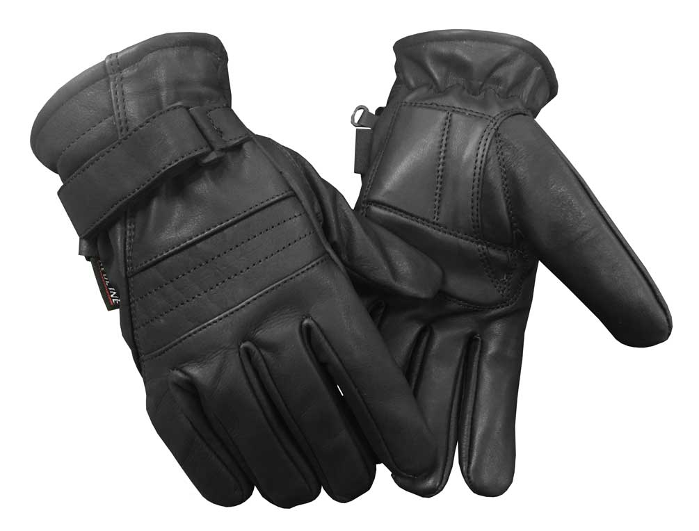 Redline Men's Gel Padded Full-Finger Leather Motorcycle