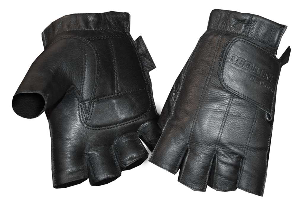 Redline Women's Gel Padded Leather Fingerless Motorcycle ...