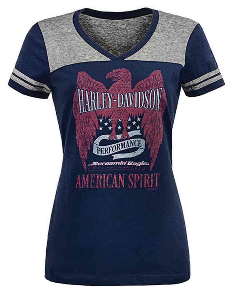 f2c4a46b21272e Harley-Davidson Womens Screamin  Eagle American Spirit Colorblock Tee  HARLLT0204