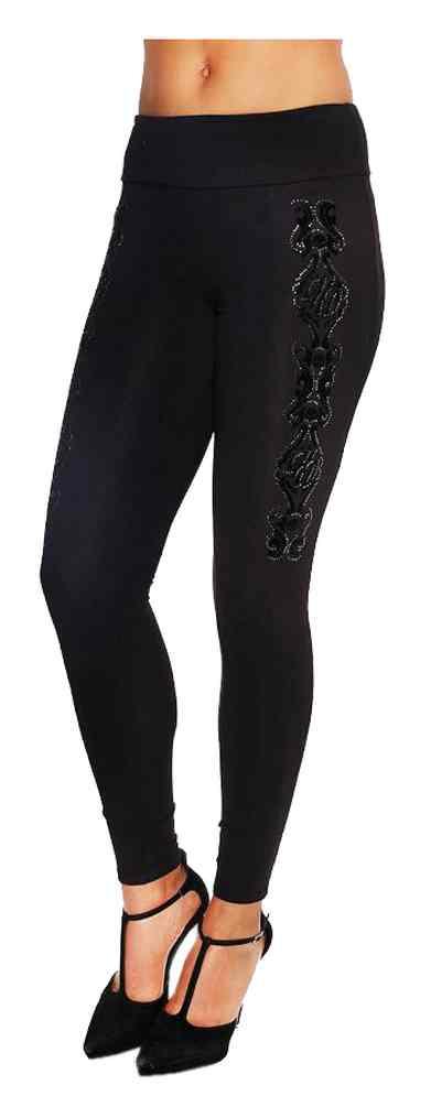 Harley-Davidson Women/'s Willie Vine Embellished /& Foiled Leggings Black