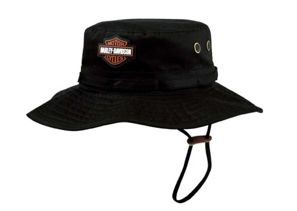 2d48bc9ca4632 Harley-Davidson Mens Cotton Twill Bucket Hat HD-409 616699988019
