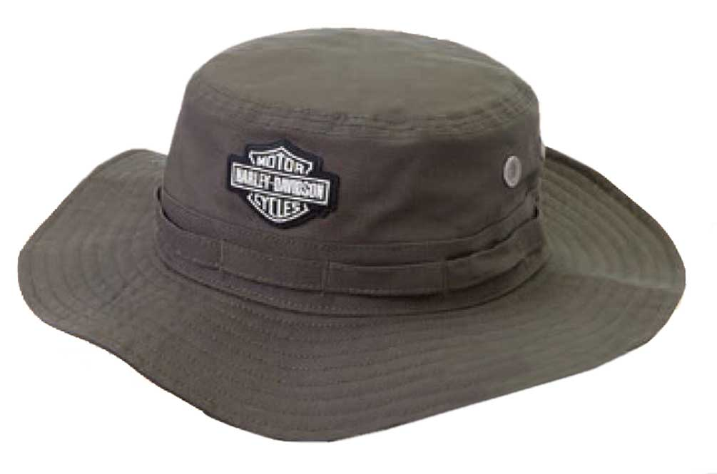 50a09cd4726 Harley-Davidson Men s Rubber Patch Boonie Cotton Twill Hat