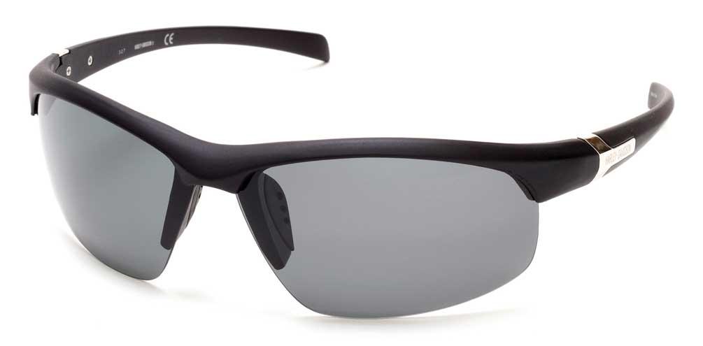 4f4259d3244 Details about Harley-Davidson Men s H-D Semi-Rimless Sunglasses Matte Black  Frame   Smoke Lens