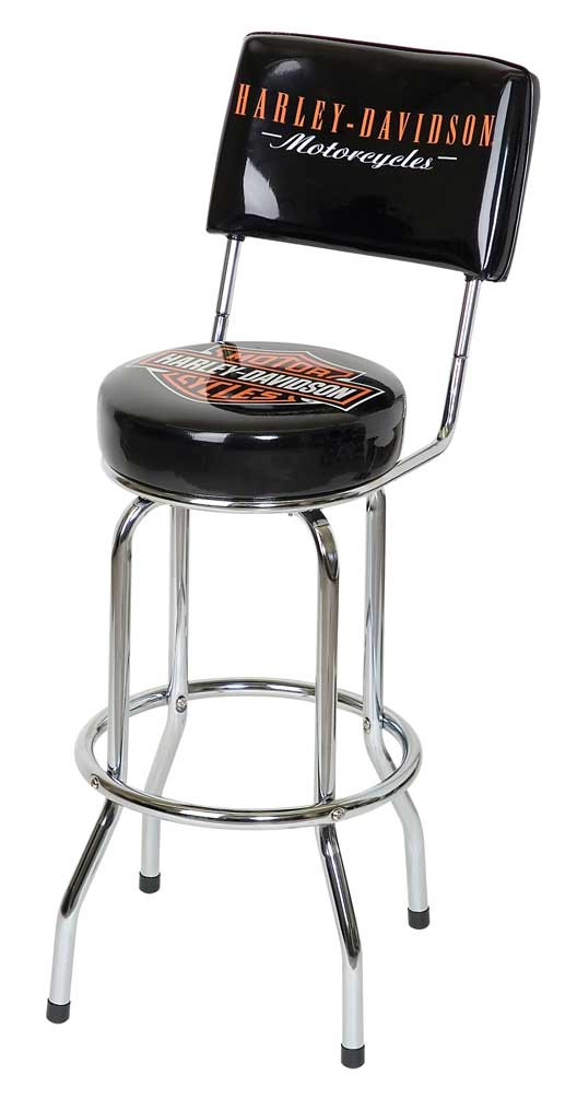 Enjoyable Details About Harley Davidson Bar Shield Bar Stool With Back Rest Hdl 12204 Squirreltailoven Fun Painted Chair Ideas Images Squirreltailovenorg